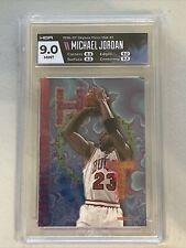 1995-96 Hoops Basketball Hot List #1 Michael Jordan HGA 9 MINT Bulls HOF Rare!