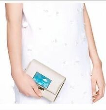 Kate Spade clutch Madison Ave Collection BERKLEY SQUARE LEELA $498 NWT WHITE