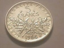 Piéce de 5 Francs en Argent année 1964 la semeuse
