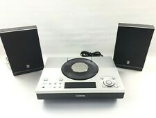 Yamaha CRX-TS20 CD/Radio Tuner/Aux Stereo Hifi with NX-TS10 Speakers, Silver