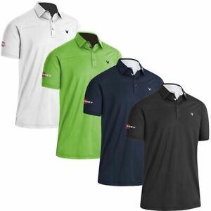 Callaway Golf Mens Odyssey Ventilated Block Stretch Golf Polo Shirt