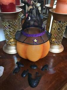 PARTYLITE MR. PUMPKIN HEAD TEALIGHT HOLDER, RETIRED BNIB $40 RETAIL