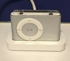 Apple iPod Shuffle 2nd Generation Silver (1GB) MP3 Player With Dock TESTED