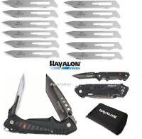 Havalon Knives EXP Pocket Folding Knife + 12 Piranta 60A Extra Blades + Holster