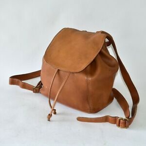VTG COACH Sonoma Brown Leather Backpack Bag Purse 4911 Made in ITALY
