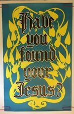 Have Your Found Jesus Poster Vintage Black Light  Religious Psychedelic Pin-up