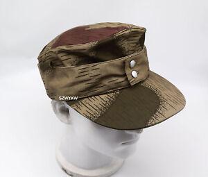 REPLICA WWII WW2 GERMAN ARMY ELITE M43 SPLINTER CAMO B HAT FIELD CAP 58cm
