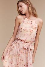 BHLDN Anthropologie Alana Dress Blush Wildflower Donna Morgan Wedding Size 6