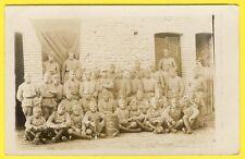 cpa CARTE PHOTO CAMP de SISSONNE Soldats du 6e Régiment de CHASSEURS Militaires
