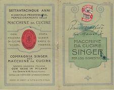 OPUSCOLO DEPLIANT PUBBLICITARIO MACCHINE DA CUCIRE SINGER 1929 1-191