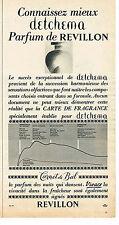 PUBLICITE ADVERTISING 014   1963   REVILLON  parfum DETCHEMA