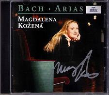 Magdalena KOZENA Signed BACH ARIA Magnificat St. Matthew John Passion Cantata CD