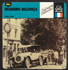 1904-1950 DELAUNAY-BELLEVILLE Car Picture History CARD