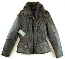 APRIORI Jacke 38 M wattiert metallic  grau Faux Fur  Anorak Parka Winterjacke