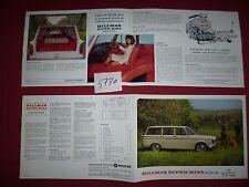 N°4730 / dépliant    HILLMAN   super minx estate car   1966