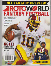 RotoWorld NFL FANTASY FOOTBALL Magazine 2013, Sleepers &  Busts,Cheat Sheets.