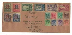 burma stamps - cover october 1945 - S.E.A.C 12th army HQ end of military command