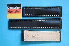 XS Bracelet De Montre pour BREITLING fermoir dépliant Noir 22/20mm cuir Russie