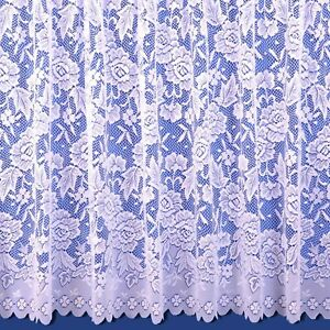 Balmoral Scalloped Net Curtains - Finished In White - FREE DELIVERY