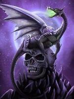 Full drill 5D Diamond Painting Cartoon Skull Dragon Handicraft Embroidery 6896H