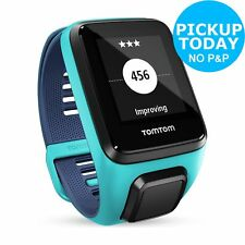 TomTom Spark 3 HR GPS Watch (Blue Small Strap + Black Large)