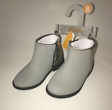 Gymboree Gray Boots Size 8 With Sparkle Design On Boots