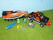 3399 Jeep with Häger Speedboot Figurines Accessories Motor Playmobil R171