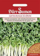 Dürr Gartenkresse einfache ca. 5000 Korn   Samen Saat  KRESSE Sämereien Salat