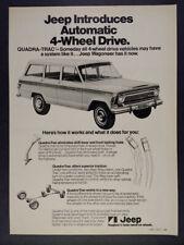1973 AMC Jeep Wagoneer Quadra-Trac 4WD vintage print Ad