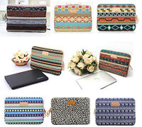 """Canvas Notebook Case 10""""11""""12""""13""""14""""15""""15.6""""17"""" Laptop Sleeve Bag For Dell Asus"""