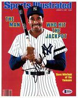 "DAVE WINFIELD Signed 8X10 photo ""NEW YORK YANKEES"" BAS BECKETT #Q93401"