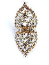 Bohemain Style Crystal Ring Adjustable