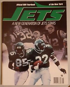 New York Jets 1991 Official Yearbook- Al Toon -Ken O'Brien -Absolute MINT!!!