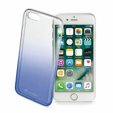 CUSTODIA CELLULAR LINE SHADOW BLUE SILICONE MORBIDA IPHONE 7 ULTRASOTTILE