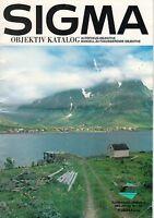 SIGMA - Objektiv Katalog - Prospekt 1991 - 1992 - B3474