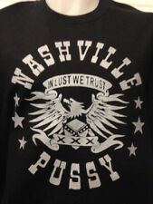 NASHVILLE  PUSSY IN LUST WE TRUST  ROCK AND ROLL BAND MUSIC T SHIRT