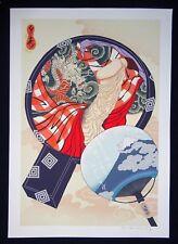 Japanese Erotic Shunga Print Hand-mirror by Matti Senju Sedholm Horimatsu (Nic)