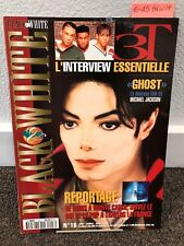 Michael Jackson Black & White magazine no 18 thriller fedora not signed smile