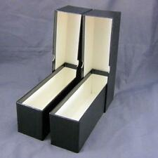 2 Black Cardboard Coin Slab Single Row Storage Boxes for Ngc Pcgs & Other Slabs