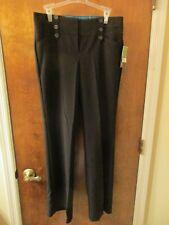 Joe Benbasset Juniors Dress Pants Black Poly-Blend Size 7 Flared Leg Zip & Hooks
