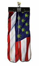 Odd Sox [USA FLAG Weed] SOCKS Calze all-over PATRIOT marijuana canapa hip hop rap