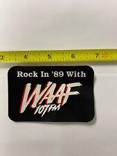 WAAF Rock In '89 sticker promo Rare