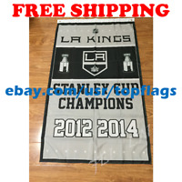 Los Angeles Kings Stanley Cup Champions Flag Banner 3x5 ft 2019 NHL Hockey NEW