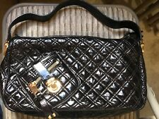 Black Quilted crinkle Patent Leather bag by Marc Jacobs
