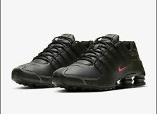 Nike Shox NZ Casual Shoes Black Varsity Red 378341-017 Men's NEW