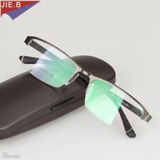 Titanium Alloy Sunglasses Transition Photochromic Reading Glasses Men Hyperopia