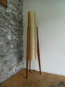 Vintage Spun Fibreglass Rocket Lamp Nice 1960s/1970s Retro Look.