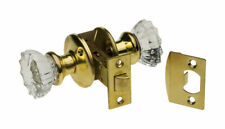 Kaba Ilco Crystal Bright Brass Glass Mortise Lockset Grade 3