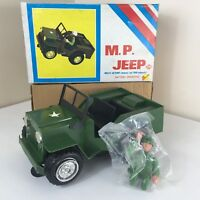 New / Unused Vintage Early 1970s Military Police Toy War Jeep By ILLCO Woolbro
