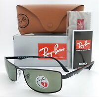 NEW Rayban sunglasses RB3498 002/9A 61mm Black Grey Green Polarized AUTHENTIC